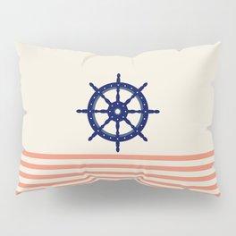 AFE Navy Helm Wheel Pillow Sham
