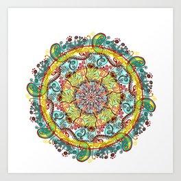 Tigan Paisley Art Print