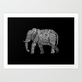Linephant Art Print