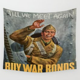 Vintage poster - Buy War Bonds Wall Tapestry