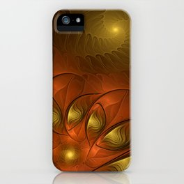 Fantasy in Copper and Gold iPhone Case