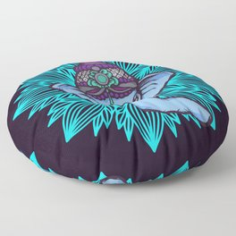 Wise Elephant Ganesha Mandala Floor Pillow