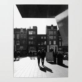 loving walk in Amsterdam Poster