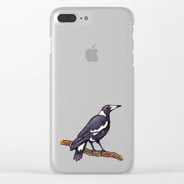 Australian Magpie Clear iPhone Case