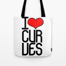 I heart curves Tote Bag
