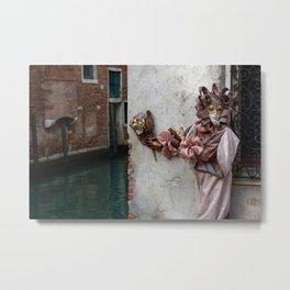 Venice Carnival (Pink) Metal Print