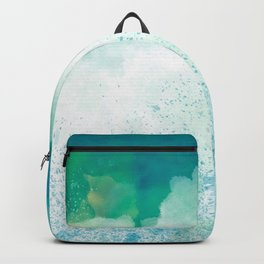 Abstract Blue Backpack