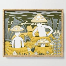 Mushroom Men Serving Tray