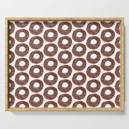 very simple donut pattern Serving Tray