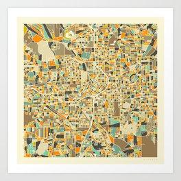 ATLANTA MAP Kunstdrucke