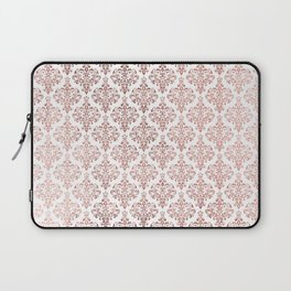 Elegant faux rose gold vintage floral damask Laptop Sleeve
