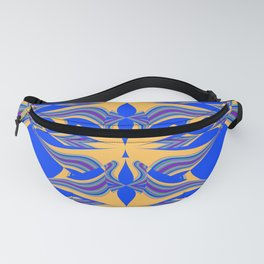 Yellow Blue Patterns Fanny Pack