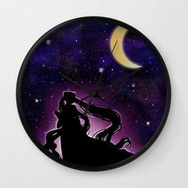 Moonlight Guardian Wall Clock