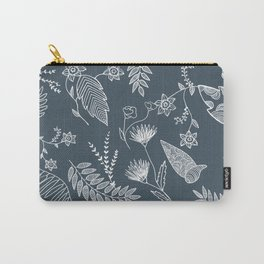 Flower Jungle Carry-All Pouch
