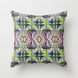Butterfly mosaic - brightly colored pattern Throw Pillow
