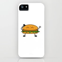 Burger with Hat iPhone Case