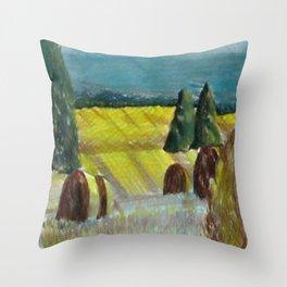 Harvest Field Throw Pillow