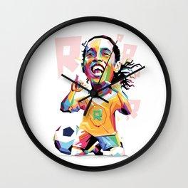 Ronaldinho Carricature WPAP Wall Clock