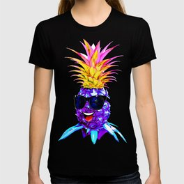 Pineapple Ultraviolet Happy Dude with Sunglasses T-shirt