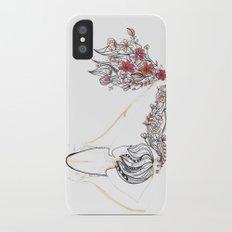 rose shower Slim Case iPhone X