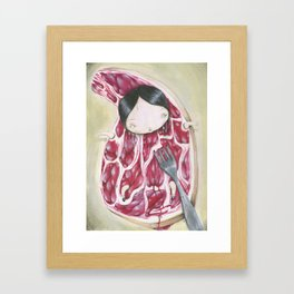 UNDERCOOKED STEAK Framed Art Print