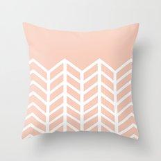 LACE CHEVRON (PEACH) Throw Pillow