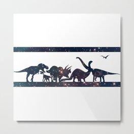 Space Dinosaurs Metal Print