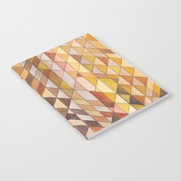 Triangle Pattern Fall Colors Notebook