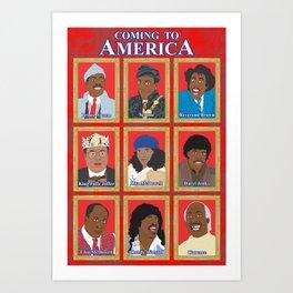Coming to America Art Print
