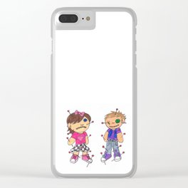 Ska Punk Voodoo Dolls Clear iPhone Case
