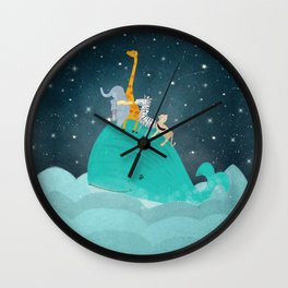 lets all go safari Wall Clock