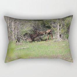 Moose Kiss Rectangular Pillow