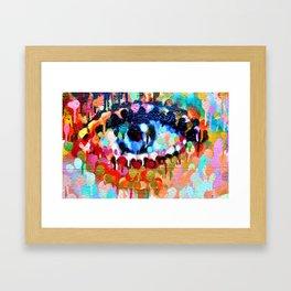 Coloured eye Framed Art Print