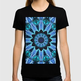 Sapphire Ice Flame, Light Bright Crystal Wheel T-shirt