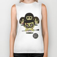 zombies Biker Tanks featuring queen zombies by danvinci