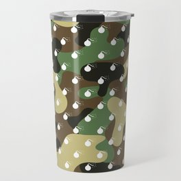 CAMO & WHITE BOMB DIGGITYS ALL OVER LARGE Travel Mug