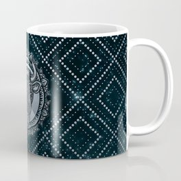 Taurus Zodiac Silver Embossed on the Star sky Coffee Mug