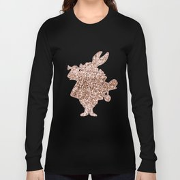 Sparkling rose gold Mr Rabbit Long Sleeve T-shirt