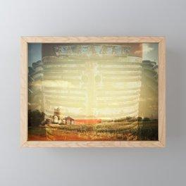 Farm And Farmall Double Exposure Framed Mini Art Print