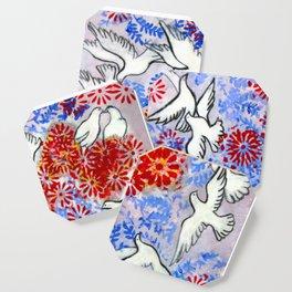 Floral Doves  #society6 #decor #buyart Coaster