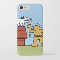 keith haring iPhone & iPod Cases featuring Keith Haring + Charles Schulz by Jared Yamahata
