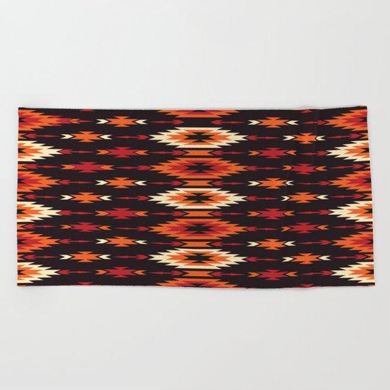 American Native Pattern No. 14 Beach Towel