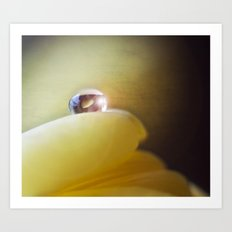 Yellow tear Art Print