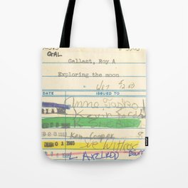 Library Card 3503 Exploring the Moon Tote Bag