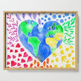 Earth heart Serving Tray