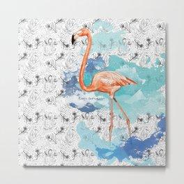 Fabulous Flamingo Metal Print