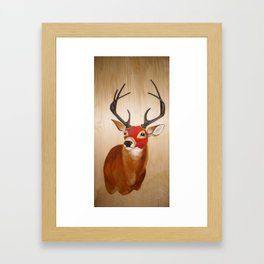 Lucha(deer) Framed Art Print