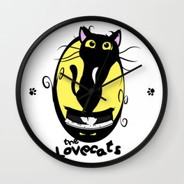 The Lovecats - Illustration The Cure song Wall Clock