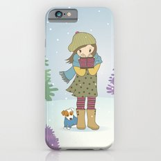 Girl and Dog in Snow Slim Case iPhone 6s