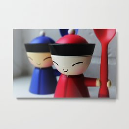 The Happy Eggcups Metal Print